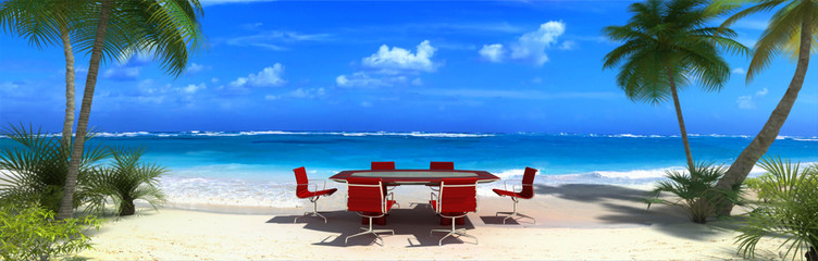 office in the beach