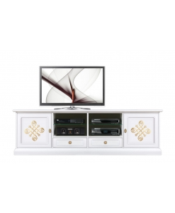 two meter tv stand for living room, tv stand, wood tv stand, tv cabinet, living room cabinet, Arteferretto,