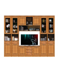 modular wall unit, tv unit, wall tv unit, classic style furniture, living room furniture, wall unit, Arteferretto