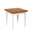 two tone table, flip top tavle, bicolored table, dining table, square table, classic dining table