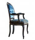 Upholstered armchair, classic style armchair, dining room armchair, wooden furniture