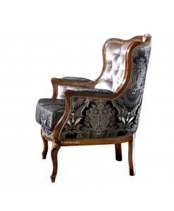 upholstered reading armchair, living room armchair, classic armchair, Arteferretto
