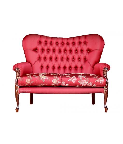 2 Seater upholstered sofa