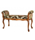 upholstered wood bench, bedroom bench, bedroom furniture, solid beech wood bench, handcrafted bench, hallway bench