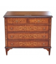inlaid dresser, inlaid chest of drawers, chest of drawers, solid wood dresser, bedroom dresser