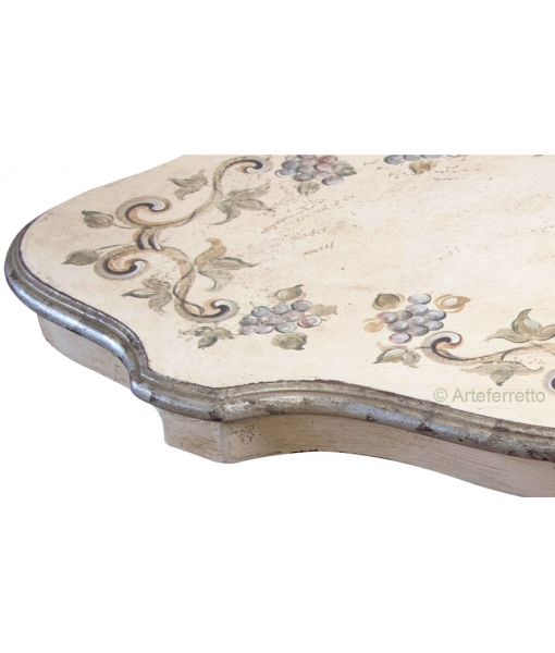 Decorated coffee table, wooden table, wood coffee table, classic style coffee table, classic table
