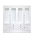 classic wall display cabinet, wooden cabinet, living room wall unit, Arteferretto furniture, wall unit Italian design, wood cabinet for living room