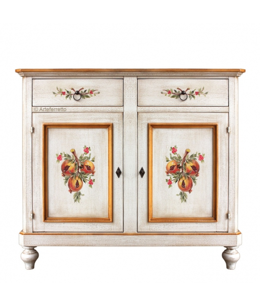 Decorated sideboard solid wood. Sku 2106-dec