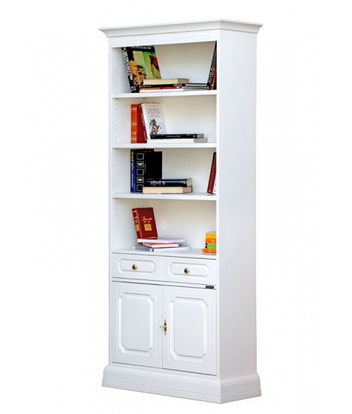 Tall bookcase in wood. Sku 299