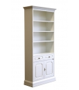 tall bookcase, wooden bookcase, solid wood bookcase, bookshelf, living room bookcase, tall cabinet, Arteferretto furniture