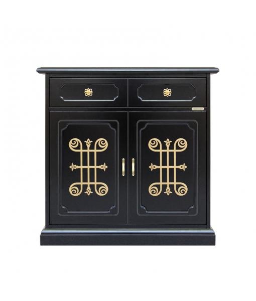 2 door black sideboard. Sku 3011-n