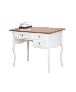 provence style desk, wooden desk, writing desk, office desk, two tone desk,
