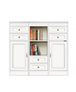 modular low unit, living room unit, wooden furniture, low furniture, low unit, wood cabinet, Arteferretto furniture