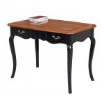 two tone shaped desk, writing desk, desk in wood, wooden desk, bicolored desk, office furniture