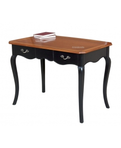 two tone shaped desk, writing desk, desk in wood, wooden desk, bicolored desk, office furniture