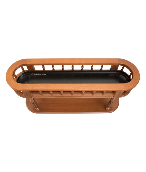 wood planter, inside planter, classic planter with wheels, wood oval planter, plant stand, flowers stand,