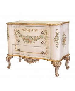 decorated dresser, classic dresse, chest of drawers, bedroom dresser, venetian dresser, wood chest of drawers,