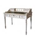 decorated desk, solid wood desk, gold leaf decorated desk, writing desk, side table, classic style desk