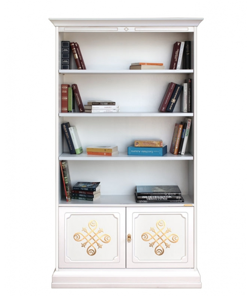 Decorated bookcase in wood. Sku 201-you