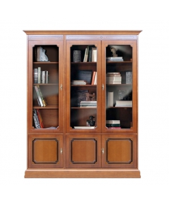 classic bookcase, Arteferretto furniture, wooden bookcase, showcase, living room furniture