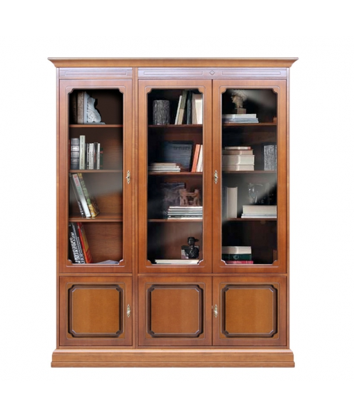 Classic bookcase with glass doors. Sku 213