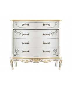 decorated dresser, wooden chest of drawer, 4 drawers chest of drawer, classic style dresser, bedroom furniture