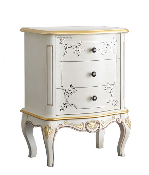 Decorated nightstand 3 drawers. Sku a217-v