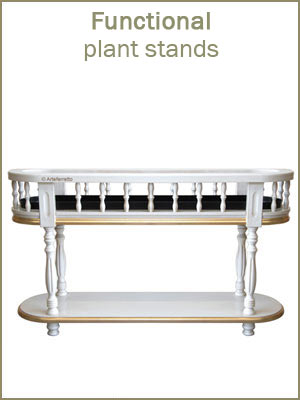 functional plant stands, wooden plant stands for entryway, hallway furniture, plant stands column