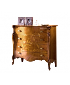 inlaid dresser, wooden chest of drawers, wooden furniture, chest of 4 drawers, classic style dresser,