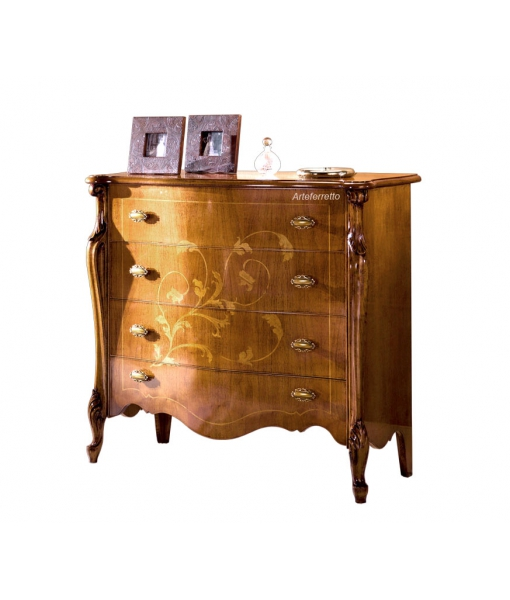 Inlaid dresser for bedroom in classic style. Sku e405-v