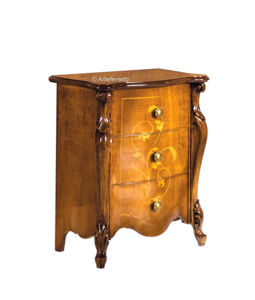 Inlaid bedside table. Sku e406-v