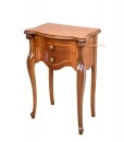 shaped side table, small cabinet, 2 drawer lamp table, wooden side table,