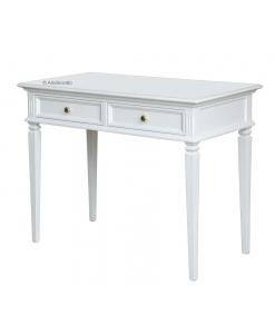 small writing desk, writing desk, white desk, small desk for study room, office furniture, classic desk