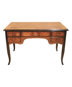 inlaid desk, wooden desk, decorated desk, classic style desk, writing desk for office, office furniture, bureau furniture
