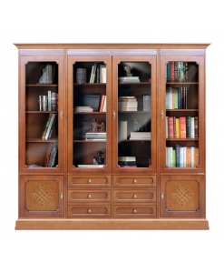 glass door wall unit, living room furniture, display cabinet in classic style, Arteferretto furniture