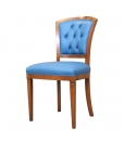 Button back dining chair, wooden chair, dining chair, desk chair, handcrafted chair, classic style chair