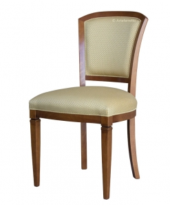 beech wood dining chair, wooden chair, dining chair in classic style, upholstered chair