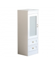 narrow display cabinet, wooden display cabinet, low unit for living room, modular unit, display cabinet 2 drawers, Arteferretto furniture