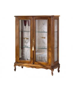 wood display cabinet, display cabinet, living room cabinet, showcase, classic display cabinet