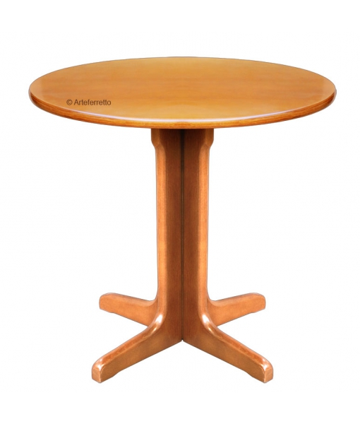 Beech wood side table for living room. Sku trov-01