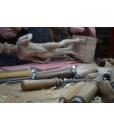 lime wood sculpture, wooden sculpture, wood statue, master piece in wood, artisan work, handcrafted sculpture, David of Michelangelo