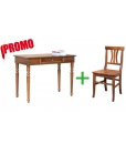 office set, wood desk and chair, wooden writing desk, classic style desk, beech wood chair
