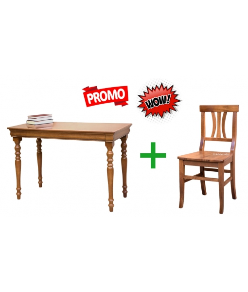 Wood desk and matching chair for office. Sku 397829