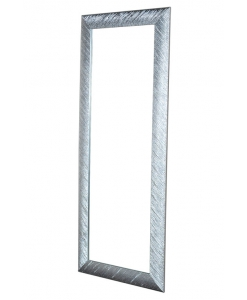silver leaf frame, silver leaf mirror, rectangular mirror, moder design mirror, silver leaf finish, wood frame