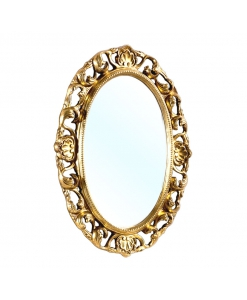 elegant oval mirror, gold leaf mirror, carved mirror, oval frame, oval gold frame, classic wood mirror, classic style frame