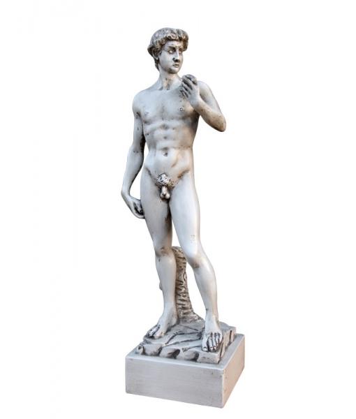 Lime wood sculpture inspired by David of Michelangelo. Sku DAV-01