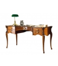 classi style woode desk, writing desk in wood, classic desk, 5 drawer writing desk, inlaid desk, solid wood desk