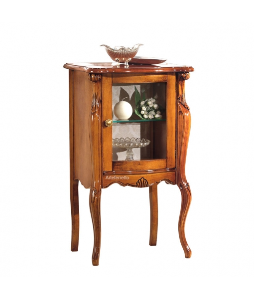 Small display cabinet in wood for living room. Sku e458-v