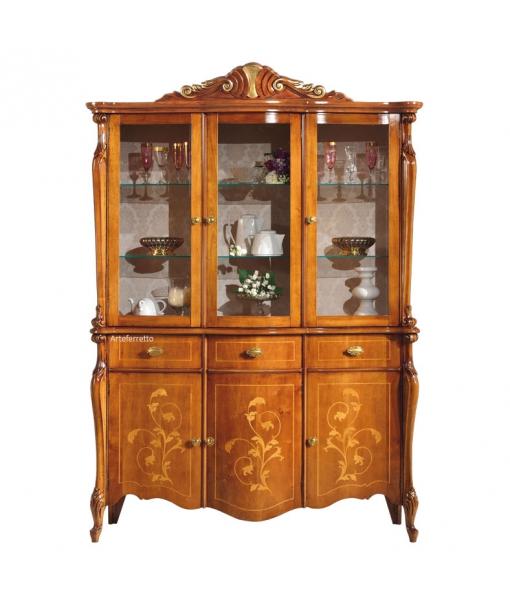 Inlaid display cabinet. Sku e465-v