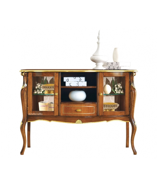 Display sideboard in classic style with gold leaf decoration. Sku e480-v